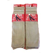 Six Pairs Of New Ladies Brown/skin colour Long Trouser Socks/ Pop Sock one size