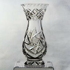 """EXQUISITE CUT CRYSTAL FOOTED VASE - PINWHEEL DESIGN, APPROX. 8-3/8 """""""