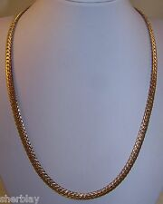 """NEW 16"""" Curb Twist Link Chain Goldtone Necklace"""