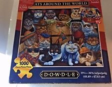Dowdle CATS AROUND THE WORLD 1000 Piece Puzzle With Free DVD