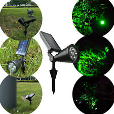 4 LED Solar Panel Spotlight Green Light Outdoor Garden Bright Lamp Auto-on/Off