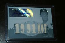 2012 Topps Triple Threads Relics WHITE WHALE Fergie Jenkins Jersey Auto 1/1