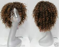 Wigs Fashion Women Party Cosplay Short Wavy Curly Brown Sexy Full Hair Wig