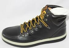AUTH $895 Gucci Men Black High Top GG Leather Sneaker Shoes Gucci 10.5/US11