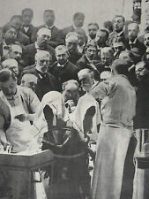 Dr Eugene Doyen In Operating Theatre Claiming Cancer Cure 1902 Photo Study 7906
