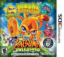Moshi Monsters: Katsuma Unleashed (Nintendo 3DS, 2013) Video Game Factory Sealed