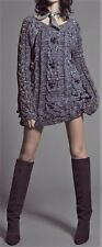 ***FOR LOVE & LEMONS KNITZ BRAIDED CABLE KNIT SWEATER DRESS IN BLACK SIZE SMALL