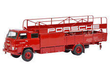 MAN PORSCHE RACING CARS RENN TRANSPORTER FITS 3 CARS 1/18 BY SCHUCO 450008100