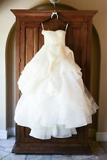 VERA WANG KATHERINE WEDDING BRIDAL SWEETHEART BALL IVORY GOWN DRESS SIZE 2 4