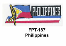 """1-1/2'' X 4-1/2"""" PHILIPPINES Flag Embroidered Patch"""