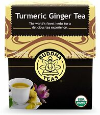 Turmeric Ginger Tea, Buddha Teas, 18 tea bag 1 pack
