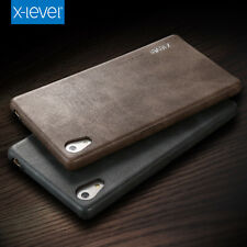 Black Vintage Soft Leather Back Case Cover for Sony Xperia Z5 Premium/Plus S002