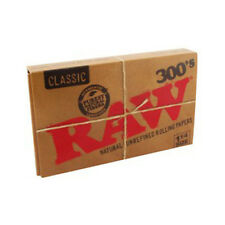 1 Pack Raw Classic 300's Natural 1 1/4 Cigarette Rolling Papers 300 Leaves 3217