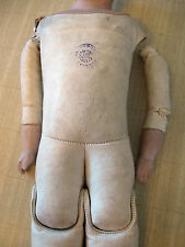 Old Armand Marseille~Kid Doll Body Marked FLORA DORA GERMANY~Broken Head~Restore