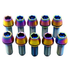 10 Pcs M6X18 Colorful Bicycle Bike Allen Hex Titanium Taper Washer Bolt Screw