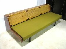 Striking Vintage Hans Wegner Teak Convertible Sofa/ Daybed With Rattan Back