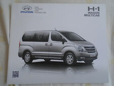 Hyundai H-1 Wagon Multicab brochure c2012 South African market
