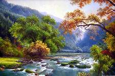 HD Print On Canvas Landscape Oil Painting Picture Modern Art Home Decor PF002