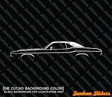2X Car silhouette stickers - for Dodge Challenger (1970) classic hardtop
