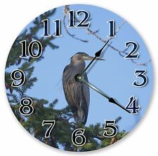 "10.5"" GREAT BLUE HERON CLOCK - Large 10.5"" Wall Clock - Home Décor Clock - 3025"