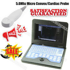 CE 10.1 Inch LCD Laptop Ultrasound Scanner Digital Diagnostic Machine+Cardiac