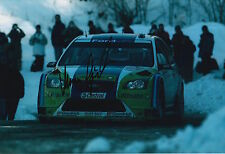 Marcus Gronholm Hand Signed 12x8 Photo Ford Rally 6.