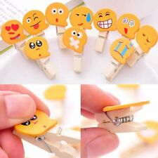 10PCS Mini Natural Wooden Cartoon Pegs Clothes Paper Photo Clothespin Craft Clip