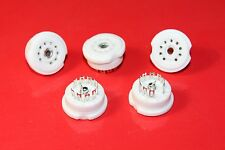 10 x Genuine High Quality B9A Ceramic Valve/Tube bases/sockets ECC81,ECC82,ECC83