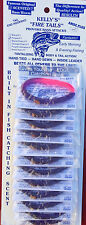 "Kelly's Firetail Worm Full card ""rubber worms"" 12 Purple Firetail FT"