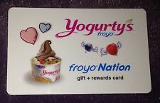 "YOGURTY'S FROYO CANADA GIFT CARD+REWARDS NO VALUE NEW FROZEN YOGURT ""HEARTS"""