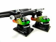 "Gullwing Sidewinder II 10"" (185mm) Black/Rasta Longboard Trucks"
