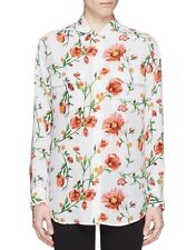 EQUIPMENT Signature Painted Wildflower Print Silk Blouse Shirt Sunkissed Small S