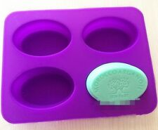 4-Oval Tree Fairy Soap Mould Flexible Silicone Cookie Mold Chocolate Mould