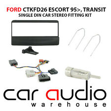 Ford Escort Upto 2004 Car Stereo S/Din Fascia & Steering Wheel Interface CTKFD26