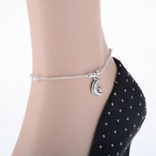 New Women 925 Sterling Silver Plated Anklet Foot Chain Ankle Barefoot Bracelet