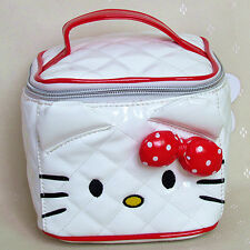 HelloKitty White Cosmetic Makeup Bag Case 2016  New Lady Girl Women Small  Size