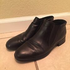 MUNRO Women Size 7.5 Black Leather Comb Last Slip On Comfort Loafers Flats Shoes