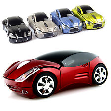 2.4GHz 3D Optical Wireless Mouse Mice Car Shape 1600DPI USB Receiver PC Laptop N