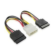 4 pin IDE Molex to 2 Serial ATA SATA Power Cable connectors c02_sx