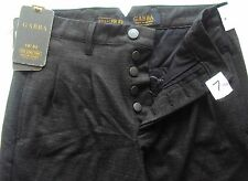 mens PANTS TROUSERS GABBA DENMARK Charcoal LOW CROTCH PLEAT FRONT MEDIUM NEW TAG