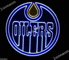 New EDMONTON OILERS Hockey NHL Beer Bar Pub Real Neon Light Sign FREE SHIP