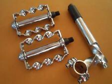 "Twisted Chrome Lowrider Bicycle STEM(gooseneck) PEDALS 20-26"" Cruiser Bike"