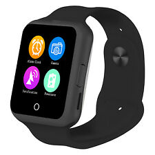 Black  D3 SIM TF Card Phone Camera Smart Watch Bluetooth For Android Samsung L2