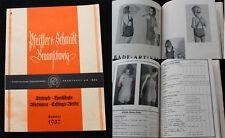 Original alter Katalog Unterwäsche / Kinder Kleidung Strümpfe Braunschweig 1937