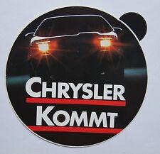 Aufkleber CHRYSLER KOMMT GM 80er Jahre USA Youngtimer Sticker Autocollant