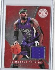 DeMARCUS COUSINS 2012-13 PANINI TOTALLY CERTIFIED RED EDITION GAME USED JERSEY
