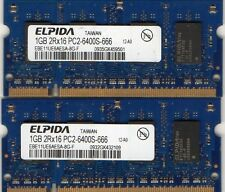 NEW 2GB 2x 1GB Kit Sony Vaio VGN DDR2 Laptop/Notebook RAM Memory