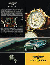 PUBLICITE ADVERTISING 045  2005  BREITLING  montre  BENTLEY