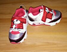 NEW * Toddler Boys Red Snoopy Joe Cool Light Up Velcro Sneakers Shoes Size 7