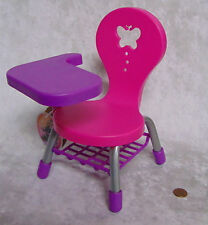 "NEW My Life American School Girl DOLL CHAIR Student Desk Chair Butterfly 18"" AG!"